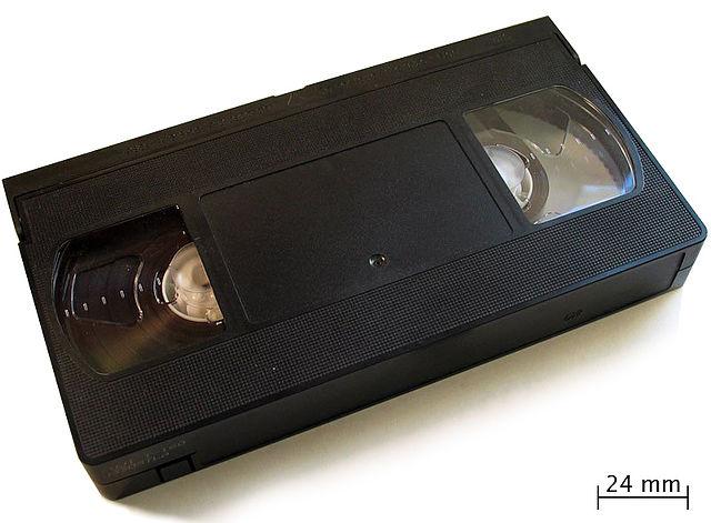 Foto de una cinta VHS