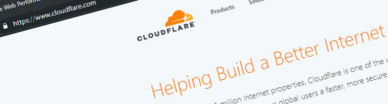 Captura de pantalla de la Web cloudflare.com